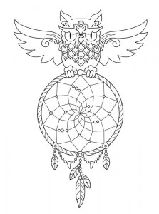 coloring page Dream catchers (3)