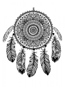 coloring page Dream catchers (4)