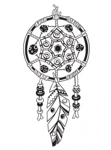 coloring page Dream catchers (7)