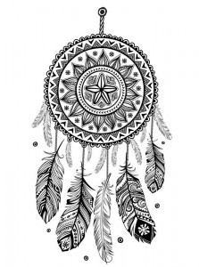 coloring page Dream catchers (9)