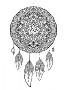 coloring page Dream catchers