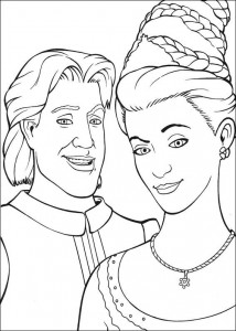 coloring page Prince and Rapunzel