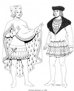 målarbok Tyskland, 1420