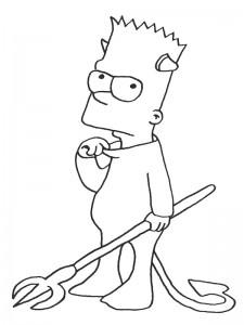 coloring page Devil Bart