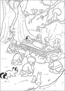 coloring page Dwarfs grieve