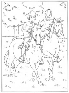 coloring page An outdoor ride