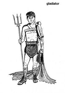Dibujo para colorear Un gladiador (1)
