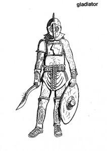 Dibujo para colorear Un gladiador (2)