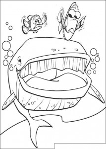 coloring page A whale