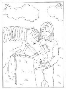 coloring page A carrot as a reward