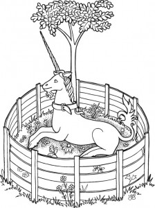 coloring page Unicorn (11)