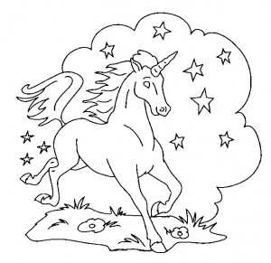 coloring page Unicorn (13)