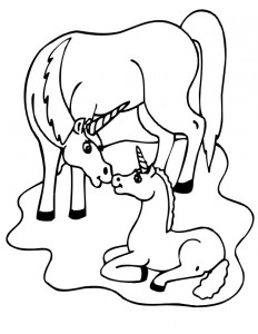 coloring page Unicorn (16)