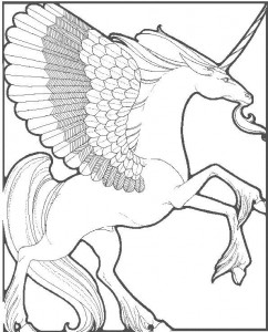 coloring page Unicorn (18)
