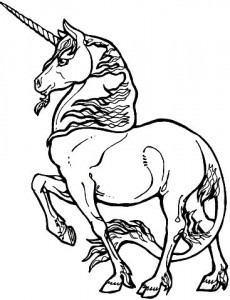 coloring page Unicorn (2)
