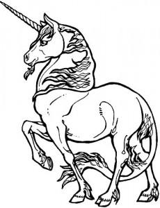 kleurplaat Eenhoorn (2)