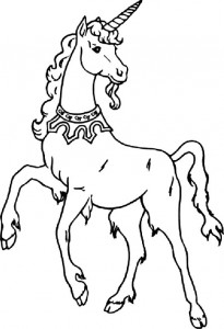 coloring page Unicorn (26)