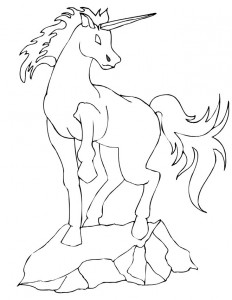coloring page Unicorn (27)