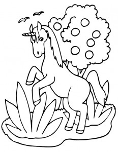 coloring page Unicorn (28)