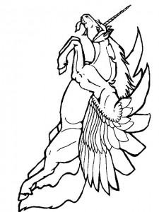 kleurplaat Eenhoorn (3)