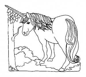 coloring page Unicorn (35)