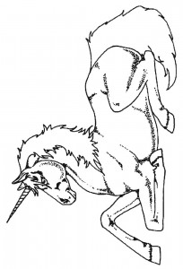 coloring page Unicorn (4)