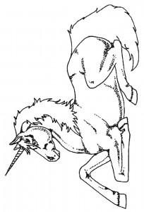 kleurplaat Eenhoorn (4)