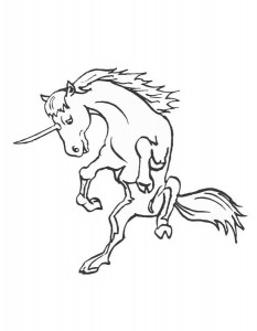 coloring page Unicorn (8)