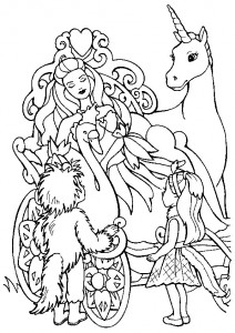 coloring page Unicorn (9)