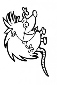 coloring page Hedgehogs (1)
