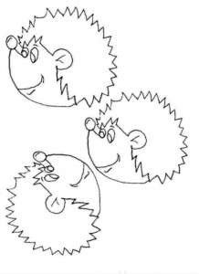 coloring page Hedgehogs (11)