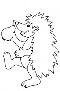 coloring page Hedgehogs (12)