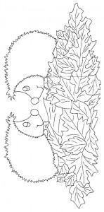 kleurplaat Egels (13)