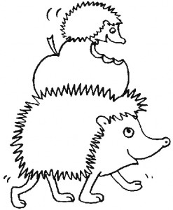coloring page Hedgehogs (14)