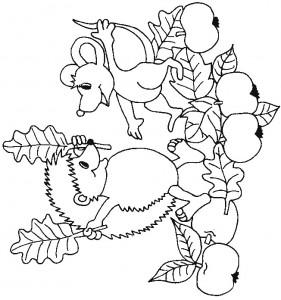 kleurplaat Egels (16)
