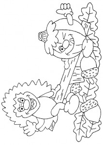 coloring page Hedgehogs (20)