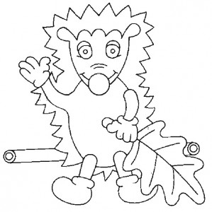 coloring page Hedgehogs (21)