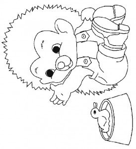 coloring page Hedgehogs (23)