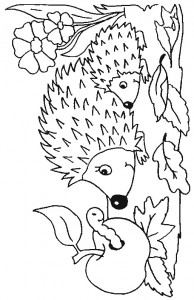 kleurplaat Egels (25)