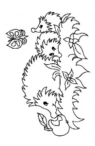 coloring page Hedgehogs (27)