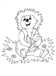 coloring page Hedgehogs (29)