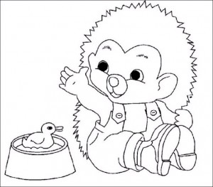 coloring page Hedgehogs (3)