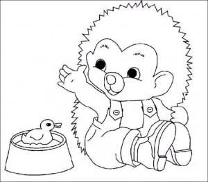 målarbok Hedgehogs (3)