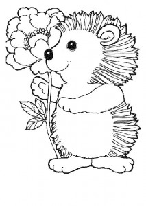 coloring page Hedgehogs (31)