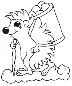 coloring page Hedgehogs (5)