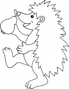 coloring page Hedgehogs (6)
