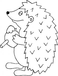 coloring page Hedgehogs (8)