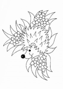 coloring page Hedgehogs (9)