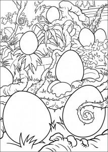 kleurplaat Eieren