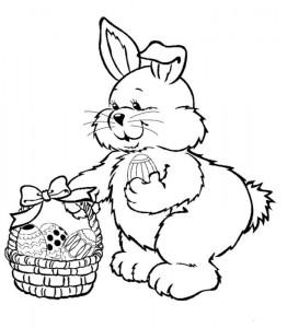 coloring page Egg basket folding